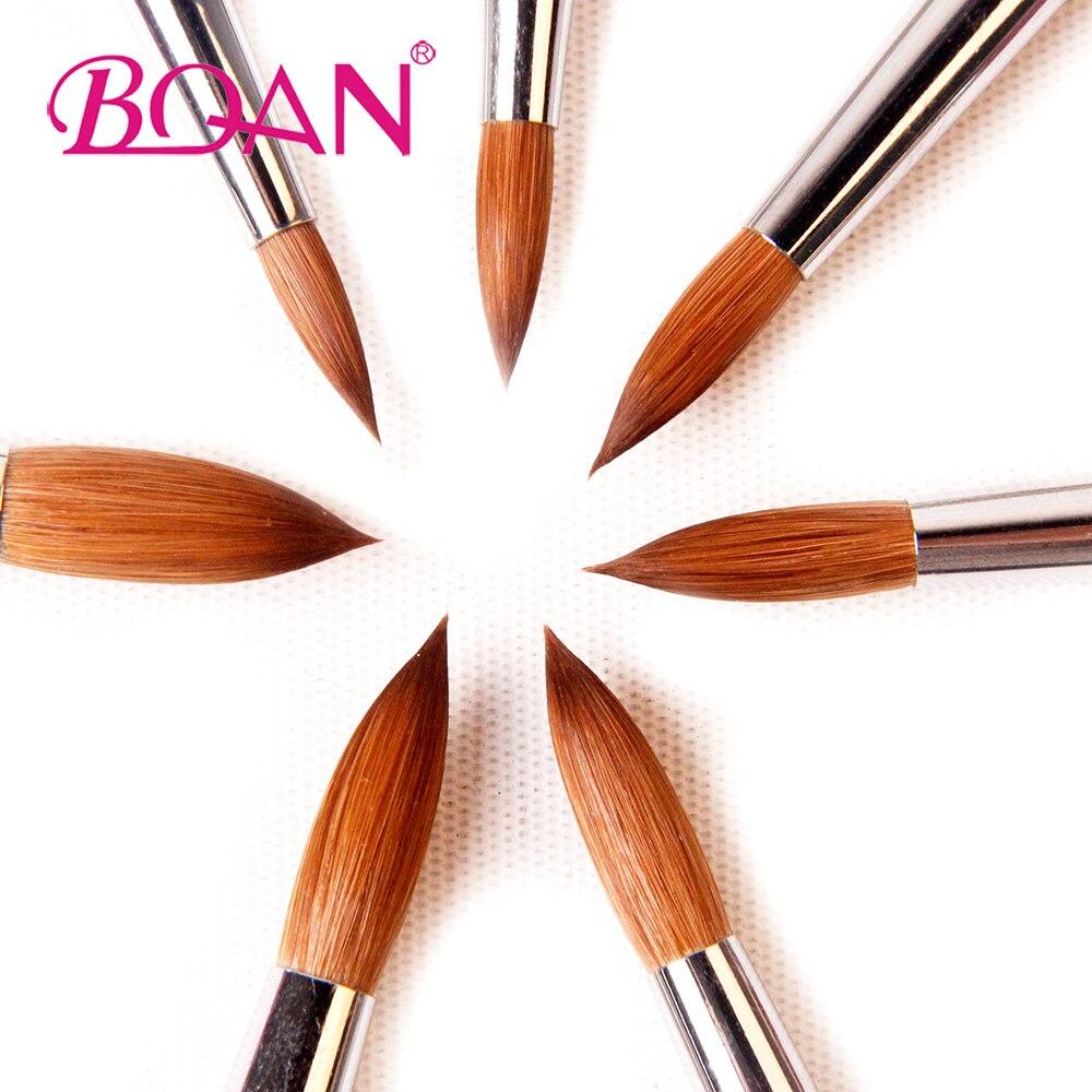 Image 5 - BQAN 10pcs #6#8#10#12#14#16#18 Kolinsky Sable Brush Acrylic Nail Art Brush Nail Art Brush Violet Metal Crystal Acrylic Brush-in Nail Brushes from Beauty & Health