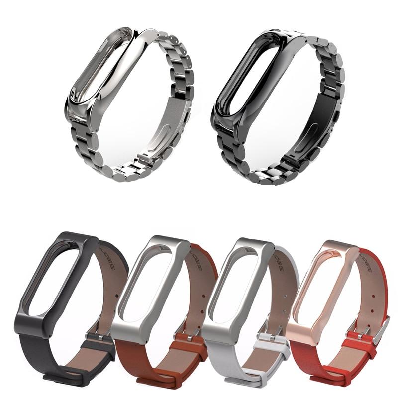 לקבלת צמיד Xiaomi Mi Band 2 צמיד החלף רצועה ללא נירוסטה צמיד פלדה עבור MiBand 2 wristbands להחליף חגורה