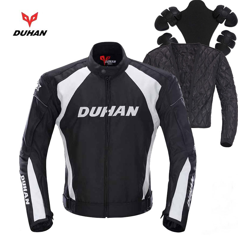 Anti-fall Winter 600D Oxford off road motorcycle biker jacket & protection,DUHAN Moto racing jackets clothes Black M L XL XXL duhan moto gp motorcycle repsol racing leather jacket vs02 orange blue m l xl xxl 3xl good pu leahter made high quality fast