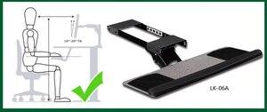 Image 2 - LK06A人間工学スライド傾斜xlサイズリストレストとキーボードホルダーつのマウスパッドデスクキーボードトレイスタンド