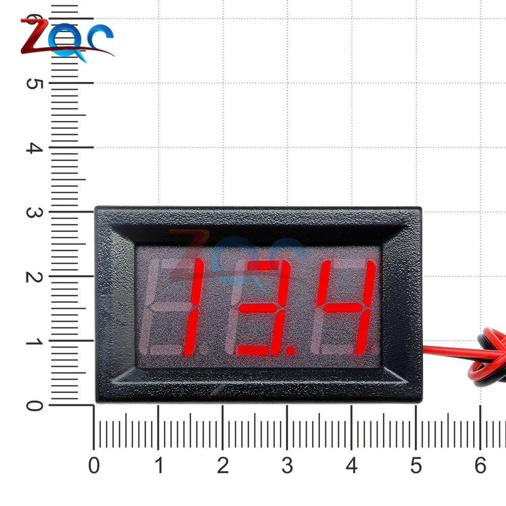 HTB1vY4pXlGE3KVjSZFhq6AkaFXaA 0.56'' Mini LED Digital Voltmeter Detector DC 0-100V 12V 24V Voltage Capacity Monitor Volt Panel Tester Meter For Motorcycle Car
