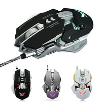 New Hot Mechanical Gaming Mouse USB Wired 7 Buttons 4000DPI LED Backlight Optical Computer Mice for Gamer 8