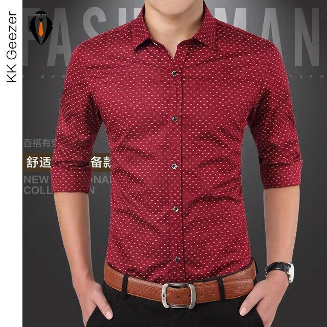Aliexpress.com : Buy Brand Fashion Polka Dot Dress Shirts Long ...