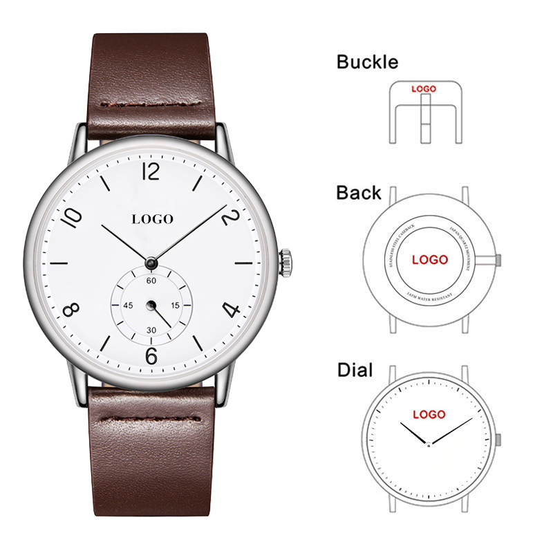 CL030 Genuine Leather Brand Your Own Watch Face Relojes Hombre Custom Men OEM Company Logo Watch Full Black with Subdial WatchCL030 Genuine Leather Brand Your Own Watch Face Relojes Hombre Custom Men OEM Company Logo Watch Full Black with Subdial Watch