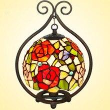 Настольная лампа витражи спальня ночной настольные лампы кафе ресторан европейской кухни свет, Yslc-21, Бесплатная доставка