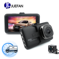 JUEFAN car dvr camera 1080p dash cam High definition car video recorder dvr car mirror camera Dual camera lens dashcam