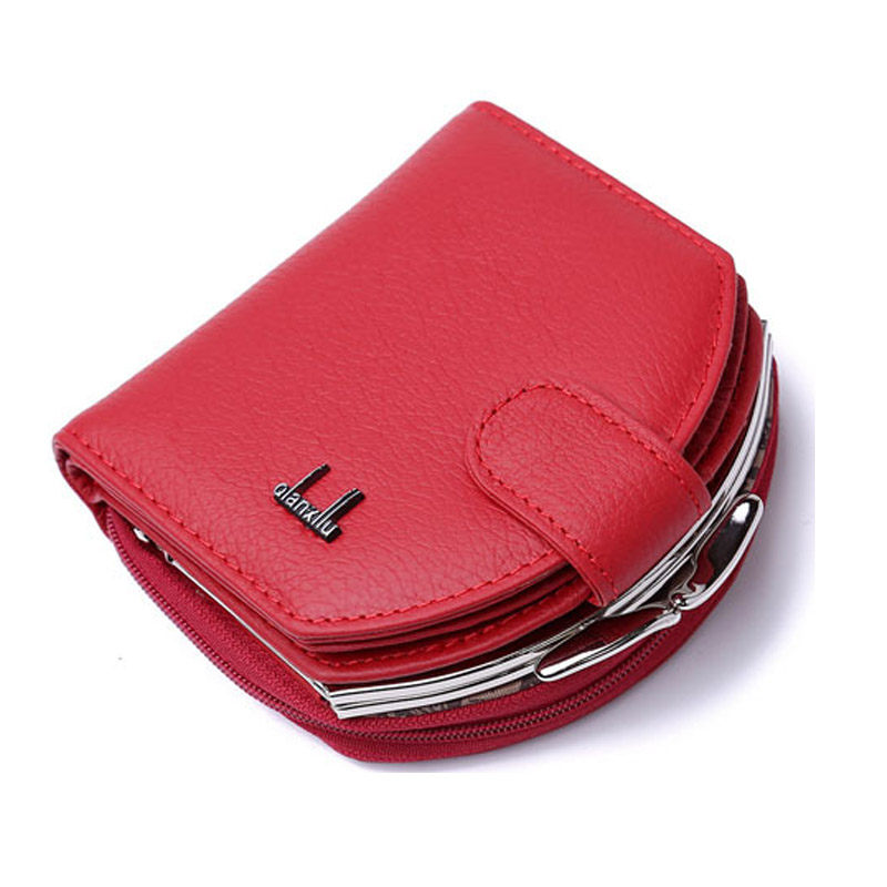 Hot Selling Hasp Quality Genuine Leather Women Wallet Short Coin Purse Hobos Small Wallet Female Fashion Gift Wallet Card Holder
