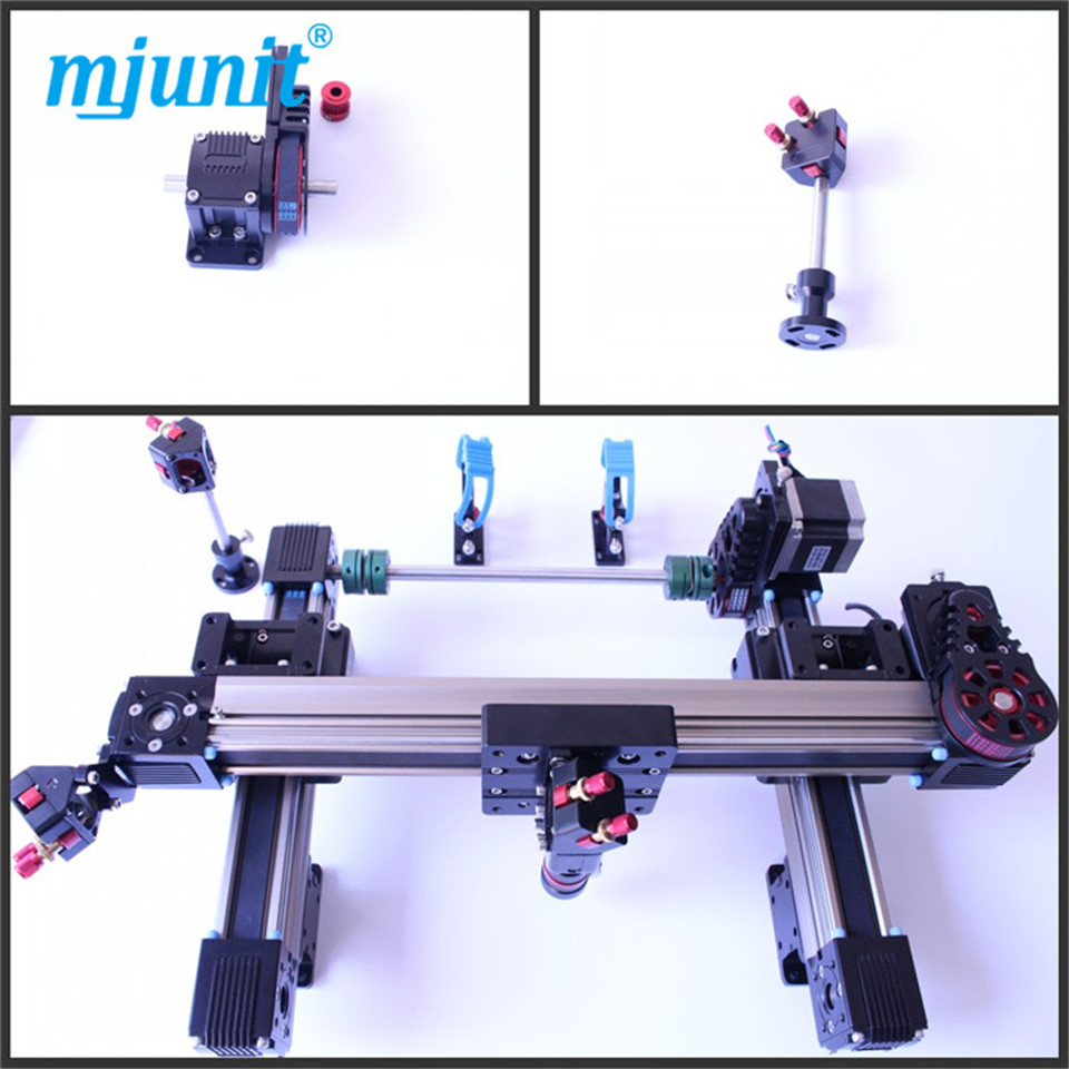 mjunit 1600x1000mm stroke one head laser kit smooth motion belt driven wheel laser machine rail the rail of laser machine 1490 include belt bear wheel motor motor holder mirror holder tube holder laser head etc
