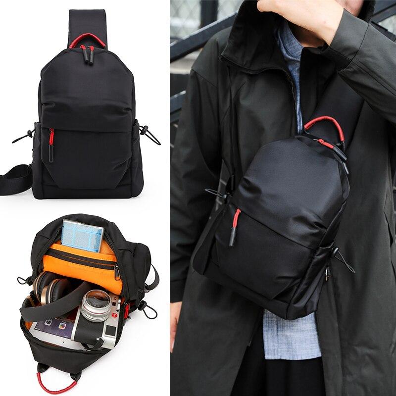 New Multifunction Pocket Crossbody Bag for Men Anti-theft Shoulder Messenger Bag Male Waterproof Short Trip Chest Bag Pack 2019