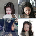 Crianças Da Menina de Flor Do Bebê Crystal Full Circle Rodada Mini Tiara Crown