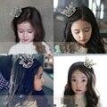 Kids Flower Girl Baby Full Crystal Circle Round Mini Tiara Crown