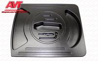 Organizers in the compartment of wheel in trunk for Lada Granta 2011 plastic ABS embossed function car styling accessories