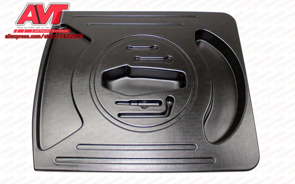 Organizers in the compartment of wheel in trunk for Lada Granta 2011- plastic ABS embossed function car-styling accessoriesOrganizers in the compartment of wheel in trunk for Lada Granta 2011- plastic ABS embossed function car-styling accessories