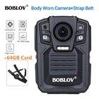 BOBLOV HD66-02 Ambarella A7L50 Police Body Worn Camera 64GB HD 1296P Recorder Video + Shoulder Strap
