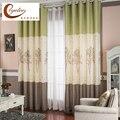 [Byetee] хлопковые и льняные маленькие занавески с принтом дерева  ткань для кухни  Затемненные занавески  двери для спальни  гостиной