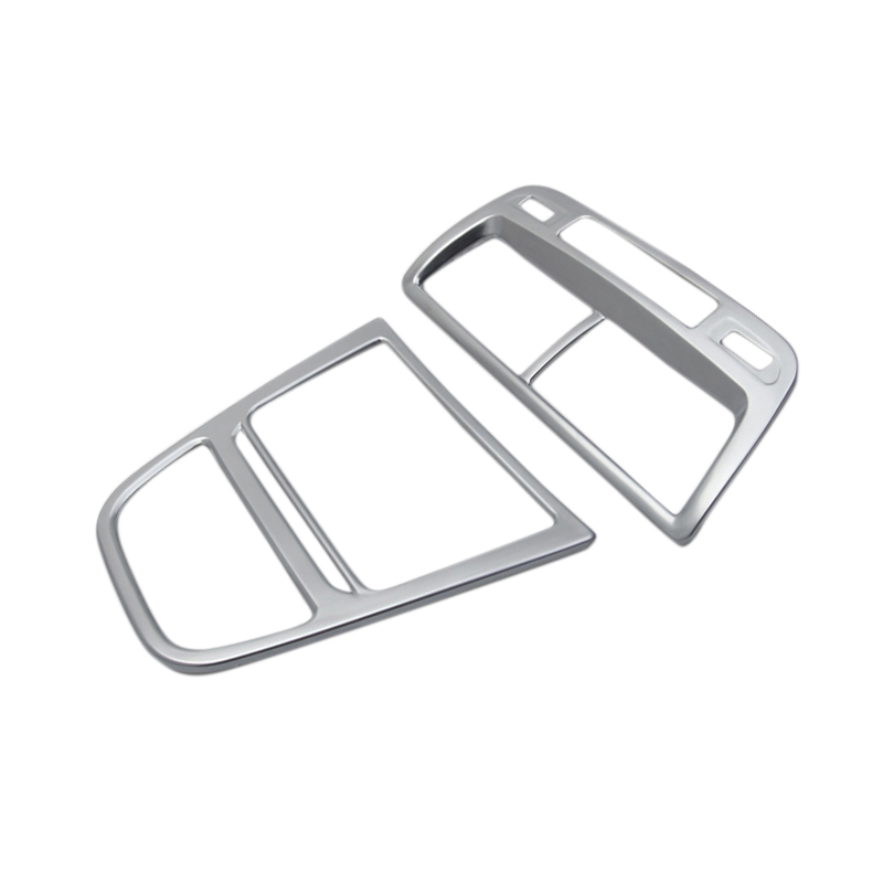 2* Matte Middle Control Panel + Center Console Air Conditioning Cover TrimFor Opel Vauxhall Mokka / Buick Encore 2013- 2015 lsrtw2017 304 stainless steel car window trims for opel mokka buick encore bitter mokka 2013 2014 2015 2016 2017 2018 vauxhall