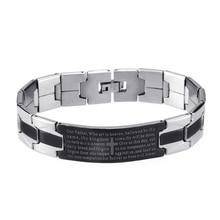 Recent kiss mandy person Jesus Christ to the cross stainless steel bracelet trendy fashion jewelry bracelet scripture bracelet