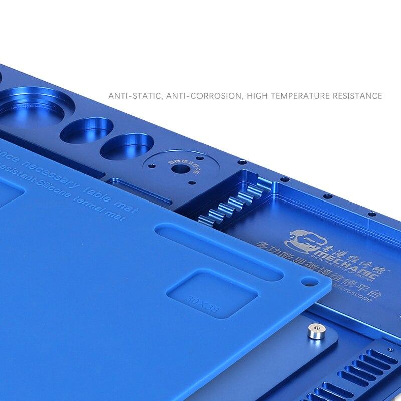 Mecánico de aleación de aluminio de Multi función de reparación de microscopio Base de reparación de teléfono móvil de la plataforma de mantenimiento - 2
