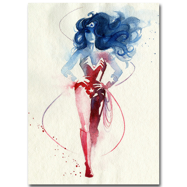Wonder Woman Superheroes Art Silk Fabric Poster Print 13x18 inch Watercolor Minimalism Picture for Living Room  sc 1 st  AliExpress.com & Wonder Woman Superheroes Art Silk Fabric Poster Print 13x18 inch ...