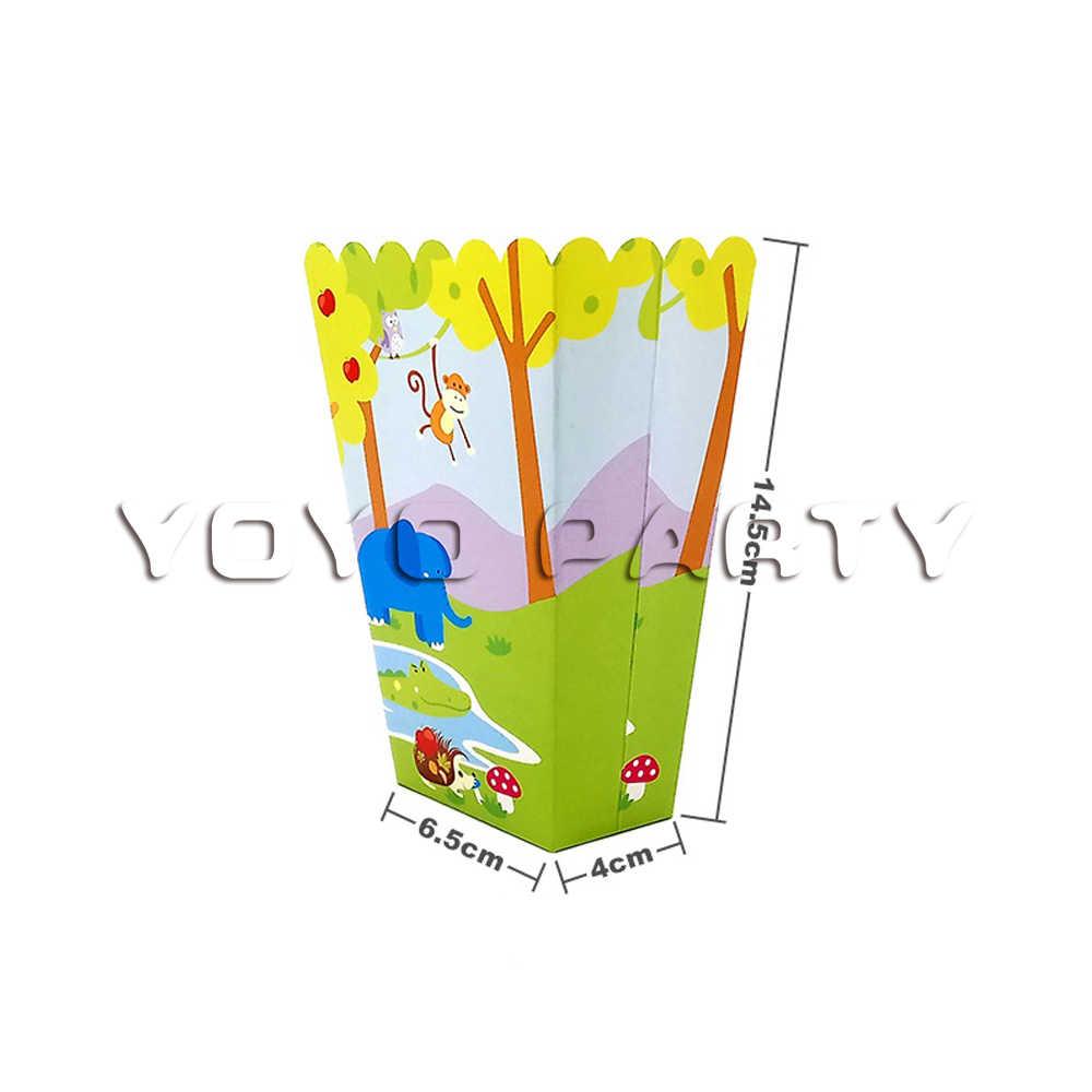 Для детей день рождения джунгли животные товары для вечерние одноразовая посуда тарелка чашка солома Конфета коробка шляпа воздушный шар кекс деко ect.