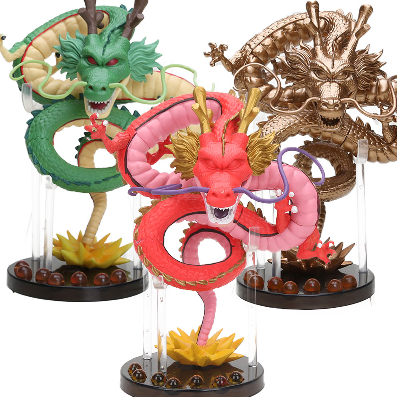Box Hot 15cm Anime Green Gold Red Ultimate ShenRon ShenLong PVC Action Figure Dragon Ball Z Collectible Model Doll Toy brinqudoe