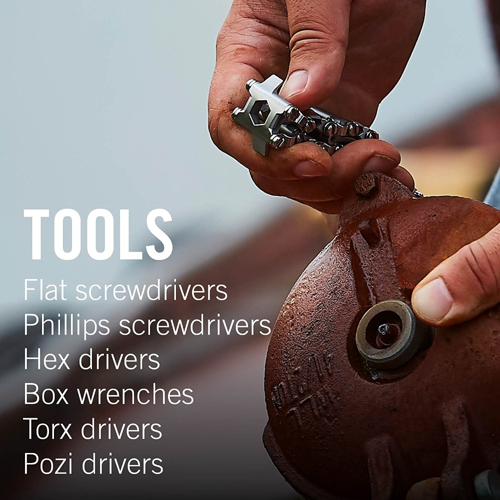 Survival Multi Tools Wearable 29 In 1 Stainless Steel Bracelet Strap Multi-function Screwdriver Outdoor Emergency Kits Multitool (14)