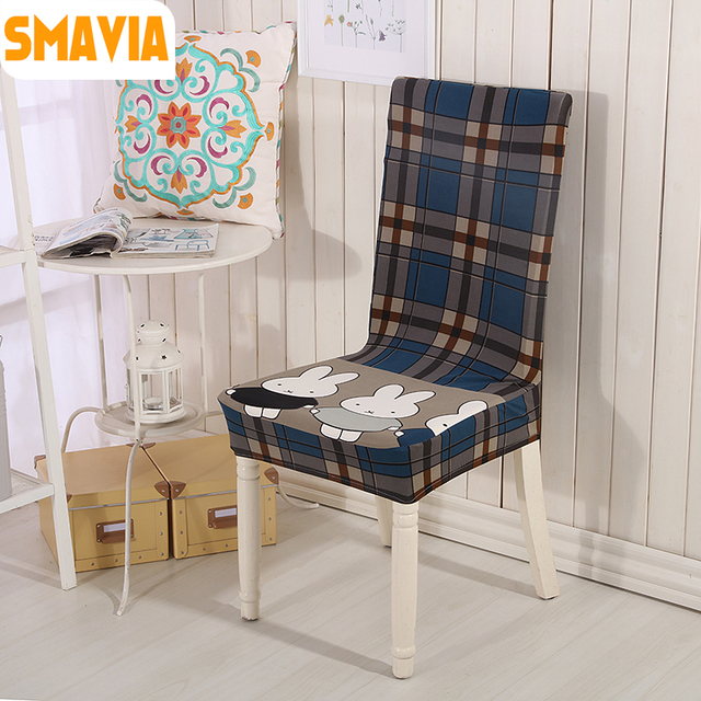 SMAVIA Fashion Printed Chair Cover Decorative Dining Room Spandex Fabric Covers Hotel Banquet