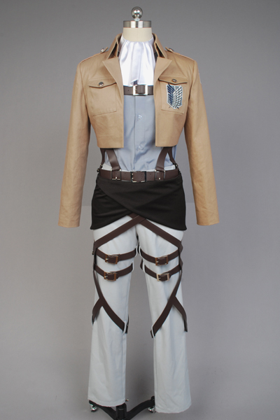 Anime Attack on Titan Shingeki no Kyojin Scouting Legion Rivaille Full Set Cosplay Costume