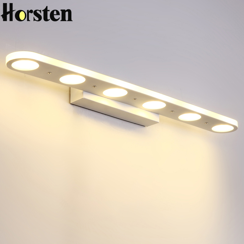 Nordic Modern Simple LED Wall Lamp 38/58cm Long Acrylic Waterproof Mirror Light For Bathroom Bedroom Makeup Mirror Lamp 90-240V modern minimalist waterproof antifog aluminum acryl long led mirror light for bathroom cabinet aisle wall lamp 35 48 61cm 1134
