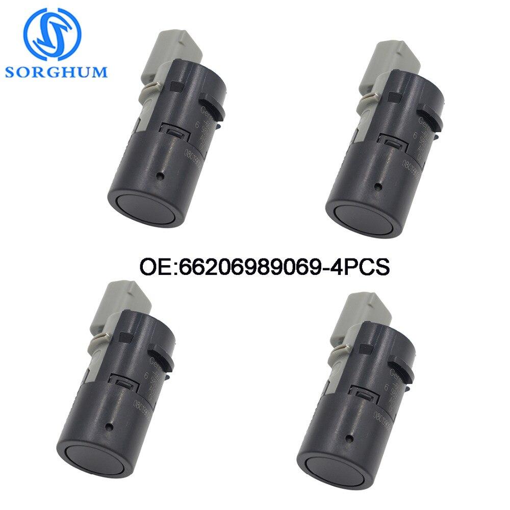 4PCS 66206989069 Backup PDC Parking Sensor Fits  For BMW E39 E46 E53 E60 E61 E63 E64 E65 E66 E83 X3 X5 66200309540 66216938737