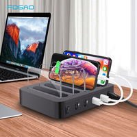 Fast USB Charging Station Dock 4 Port Quick Charge QC 3.0 Multiple Devices Multi Device Charger Organizer For Apple iPad iPhone