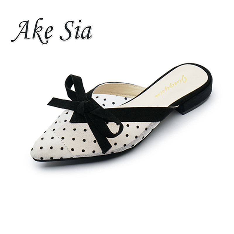 2019 summer new mesh sandals slippers pointed low-heeled Shallow women Comfortable Single shoes wild wear simple casual sandals2019 summer new mesh sandals slippers pointed low-heeled Shallow women Comfortable Single shoes wild wear simple casual sandals