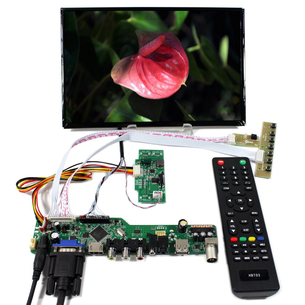TV HDMI VGA AV USB AUDIO LCD Controller Board+10.1 B101UAN02 1920x1200 AHAV LCD Screen youtoing yt box4x4 lcd video wall controller hdmi vga av usb processor 4x4 nine images stitching image processor 16tv 1080p