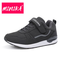 MINIKA Solid Colors Casual Shoes Women Lace Up And Hook Loop Comfortable Women Flat Shoes Soft