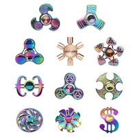 2017 Fidget Spinner Hand Spinner Colorful Metal EDC Tri Toys Gifts For Kids Adult Autism ADHD