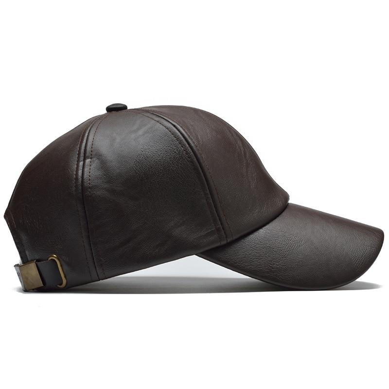 [NORTHWOOD] New High Quality Winter Cap PU Leather Baseball Cap Men Snapback Hat Casquette Gorras Para Hombre Mens Trucker Cap 5