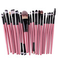Maange 20 pçs/set makeup brushes set ferramentas fundação sombra em pó delineador lip make up brush kits preto rosa