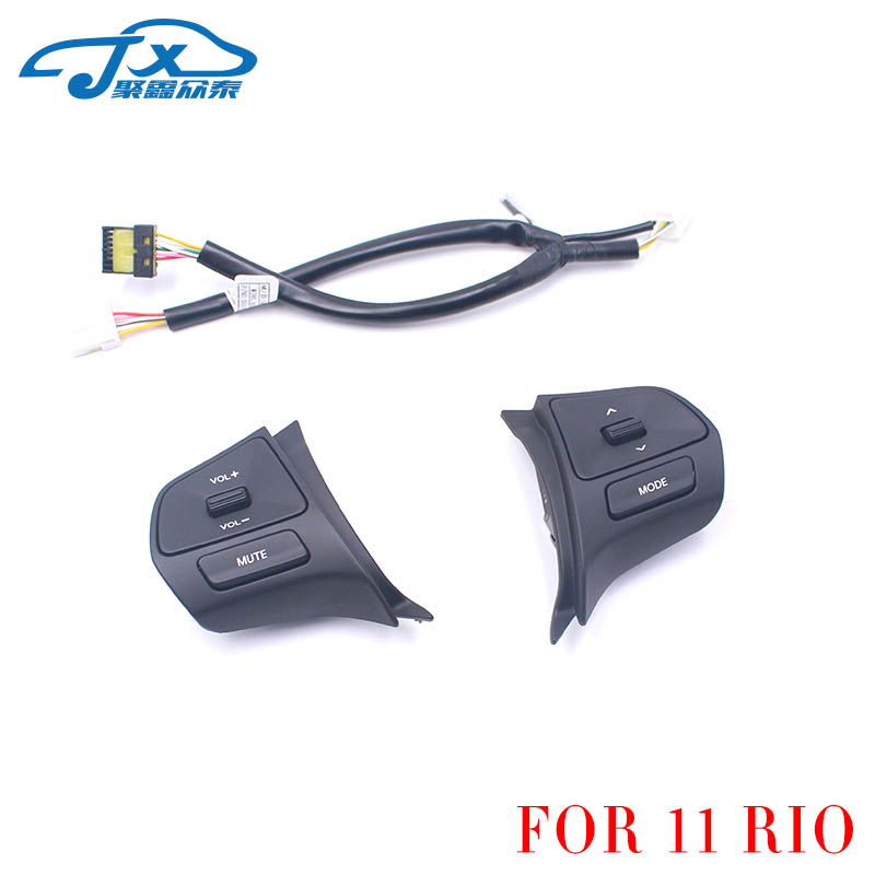 FOR KIA 11~14 RIO Multi-function steering wheel switch Steering wheel button Multimedia control music button Left side plus righFOR KIA 11~14 RIO Multi-function steering wheel switch Steering wheel button Multimedia control music button Left side plus righ