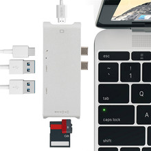 New Type C Hub Connector USB C Converter HDMI 4K USB 3.0 Hub SD TF card reader charger for Macbook USB C Hub HP PC laptop Hub