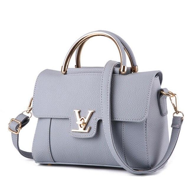 Fake Designer Bags V Women S Luxury Leather Clutch Bag Las Handbags Brand Messenger Sac A Main Femme Handle