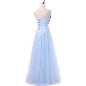 Image 2 - FADISTEE 새로운 도착 럭셔리 긴 스타일 드레스 블링 구슬 장식 tulle 이브닝 드레스 파티 파티 크리스탈 진주 바닥 길이
