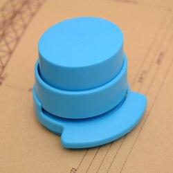 1 шт. эко абс пластиковый штапель без скоб степлер, новый школьный и офисный степлер без ШТАПЕЛЯ, штапель-без скоб степлер