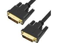 Pozłacane DVI DVI-D 24 + 1 Kabel Przewód Wideo Rękaw Linia Ekranowanie Projekt Dla Hosta do Monitora Projektora 300 cm