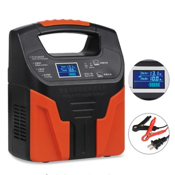 12V 24V Car Lead Acid Battery Chargers Auto Motorcycle Truck Smart Fast Battery Charger Fully Automatic LCD Charge 7#
