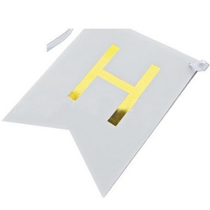 Image 5 - 1 Bag Lovely Hang Pennants Happy Birthday Paper Flag Party Favor Decor Celebration Supplies Happy Birthday Letter Banner XH8Z
