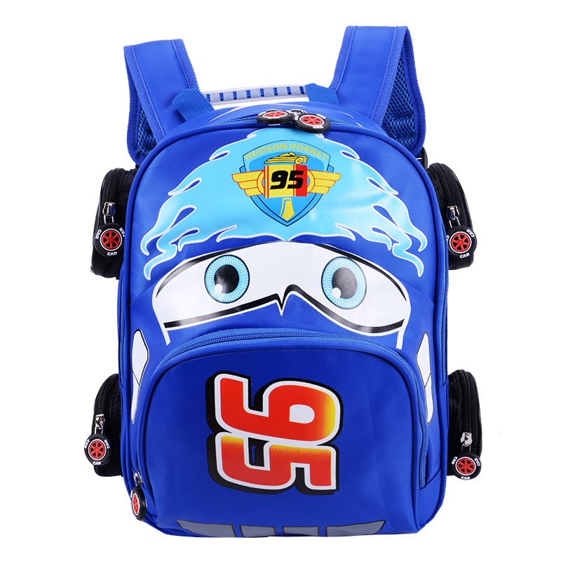 2018 New Cartoon 95 Car Boy Girl Baby Kindergarten Nursery School bag Bagpack Teenager Schoolbags Canvas Kids Student Backpacks 49