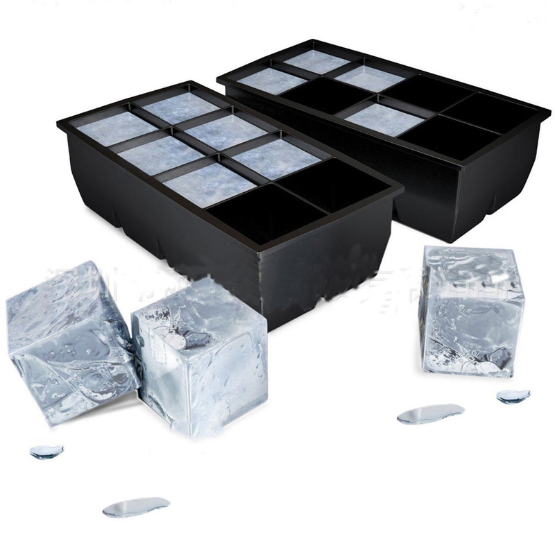 8 Big Cube Jumbo Large Silicone Ice Cube Square Tray Mold Mould Ice Cube Maker Kitchen Accessories