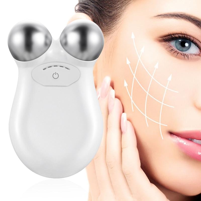 M quina de levantamento de rosto pele aperto tonifica o conjunto microcurrent massageador facial beleza antienvelhecimento