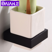 Toothbrush Holder Cup SIngle Tumbler Holder Wall Mounted Bathroom Shelves Aluminum Bathroom Accessories Toothbrush Holder Set luxury brush tumbler ceramic cup holder antique bronze single toothbrush holder wall mounted ceramic bathroom accessories