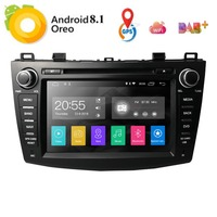 New 8 Android8.1 Car DVD Player for Mazda 3 Mazda3 2010 2013 with BT 4G Wifi Radio GPS 2GRAM SWC RDS DVR DAB DTV Mirror Link